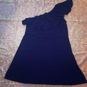 Off the shoulder black dress